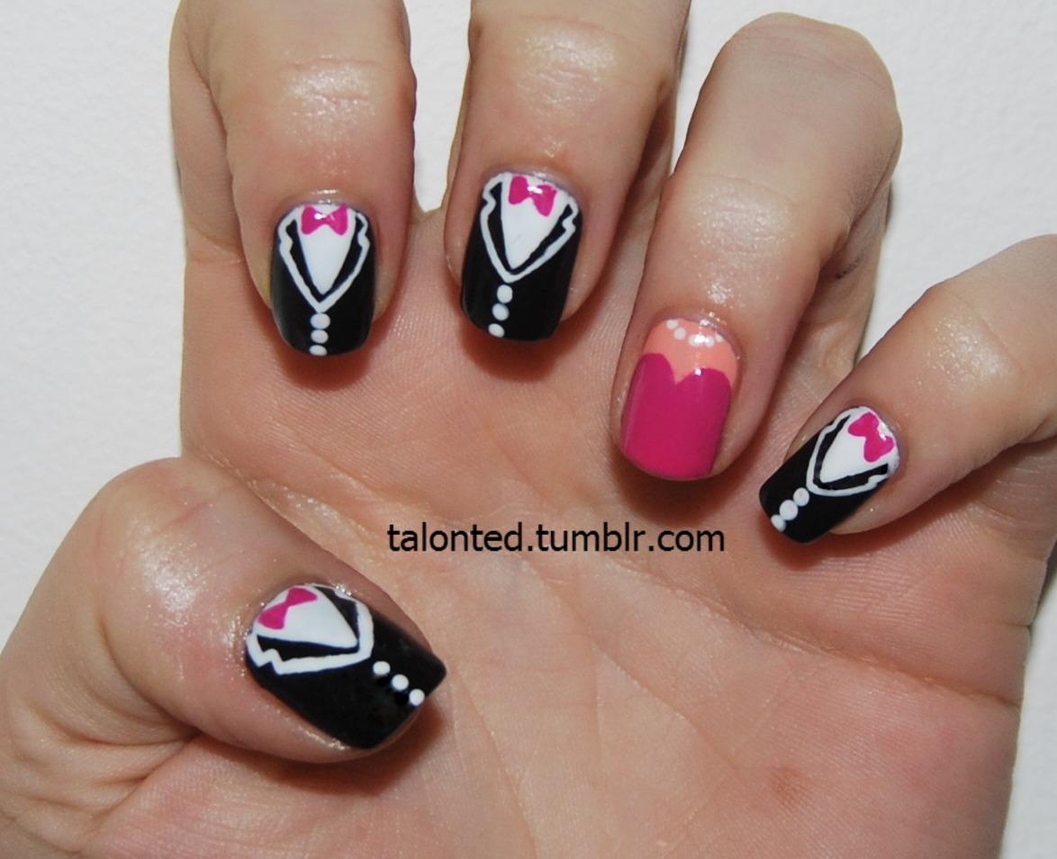 Tuxedo Nail Art Manicure