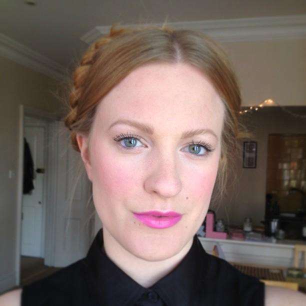 FOTD Crown Braid and Pink Lip