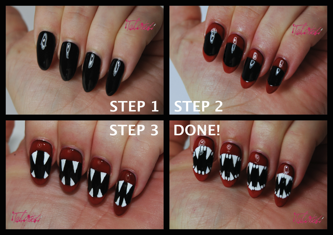 Halloween Nail Art Tutorial Fangs