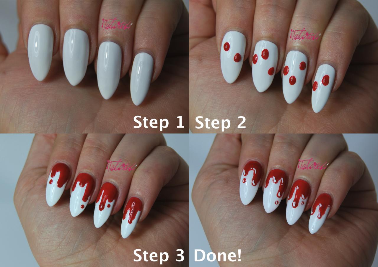 Как сделать кровавый маникюр