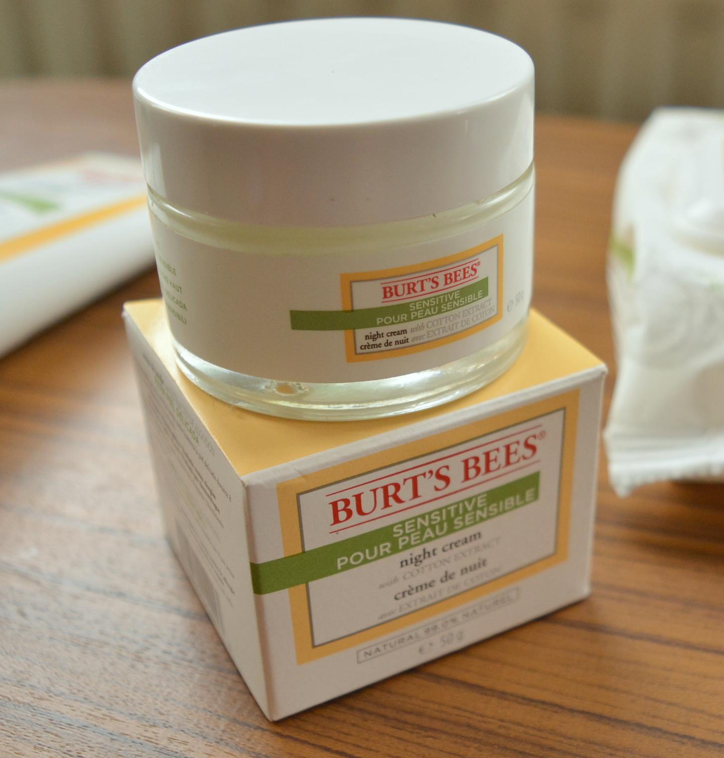 Burt's Bees Sensitive Skin Night Cream review