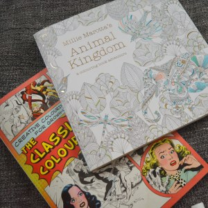 July Monthly Beauty Favourites - Adult colouring books, Millie Marotta 'Animal Kingdom', Classic Comic Colouring Book
