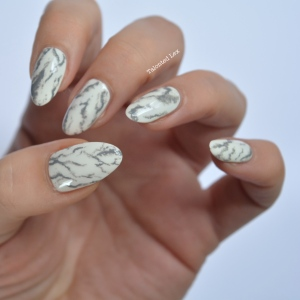 Mani Monday Marble Nail Art