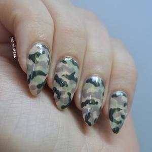 Mani Monday Camouflage Nail Art Talonted Lex