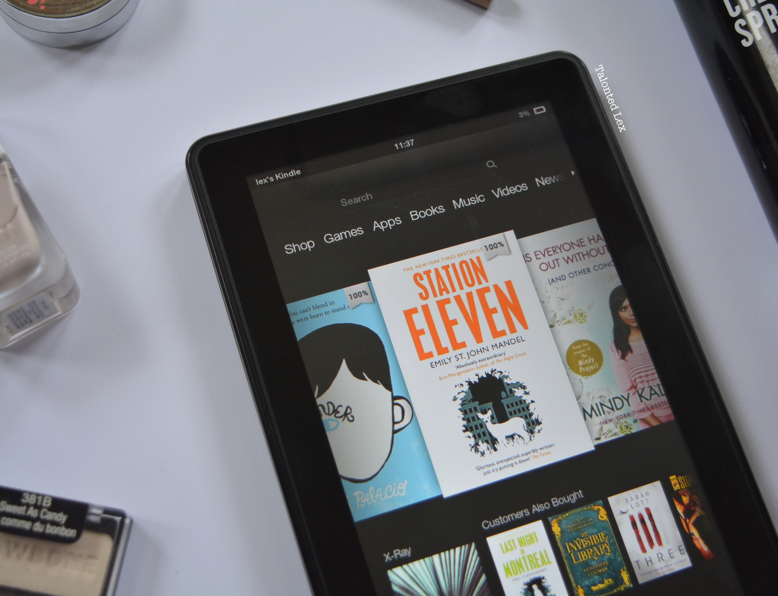 Talonted-Lex-August-2015-favourites-kindle-station-eleven-wonder-mindy-kaling