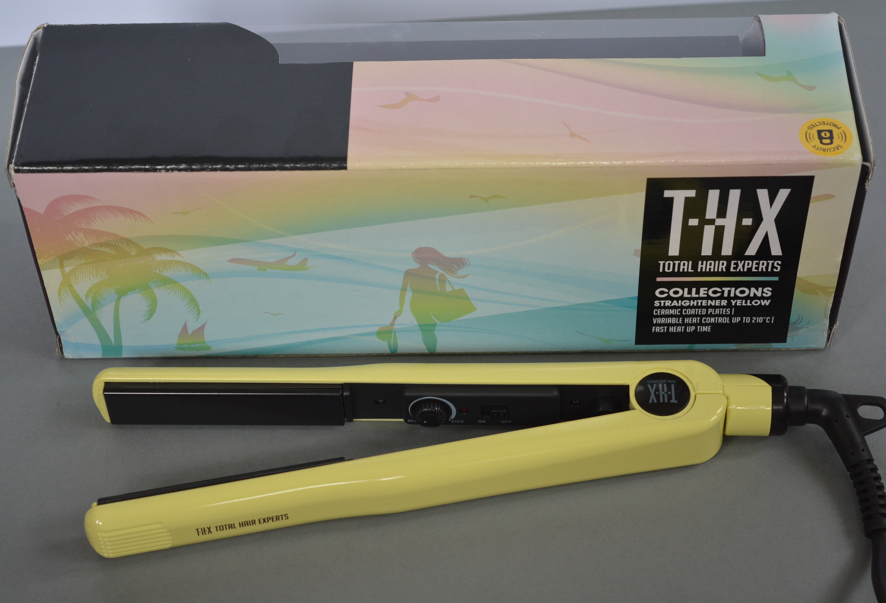 THX-Travel- Hair-Straightener-Yellow-Review-Talonted-Lex